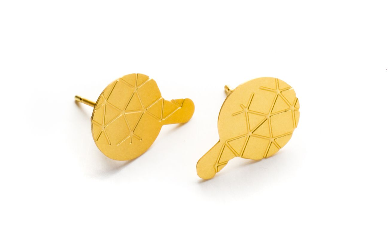 Empreinte II earrings gold matt finish