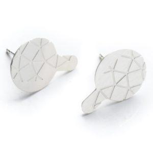 boucles d'oreilles empreinte II avec finition argent mat