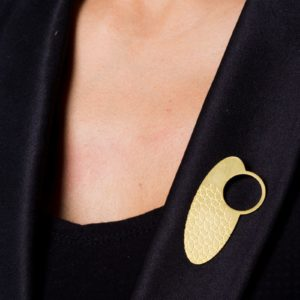 Empreinte-IV Brooch placed on lapel