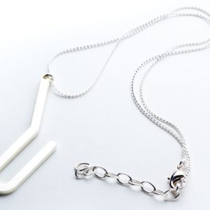 Racine I pendant matte silver finish with chain