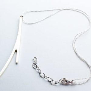 Ramification neck pendant I matte silver finish plus chain.