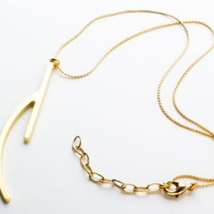 Ramification III gold matt finish pendant with chain