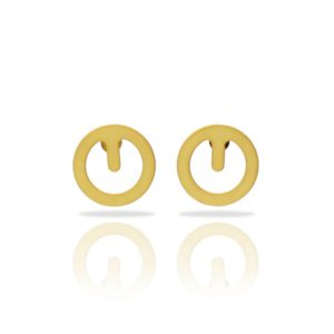 original design clip earrings in gold finish